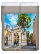 Famous Arc From Basilica Di San Vitale In Ravenna, Italy Duvet Cover