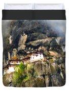 Famous Tigers Nest Monastery Of Bhutan 3 Duvet Cover