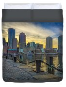 Fan Pier Boston Harbor Duvet Cover