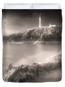 Fanad Lighthouse In The Mist Duvet Cover by Susan Maxwell Schmidt