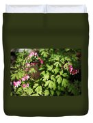 Fanciful Bleeding Hearts Duvet Cover