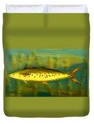 Fanciful Golden Mackerel Duvet Cover by Shelli Fitzpatrick