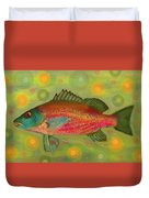 Fanciful Pink Snapper  Duvet Cover by Shelli Fitzpatrick