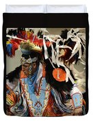 Pow Wow Fancy Dancer 1 Duvet Cover