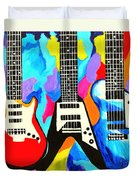 Fancy Guitars Duvet Cover