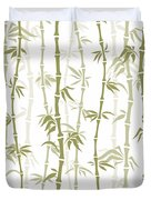 Fancy Japanese Bamboo Watercolor Painting Duvet Cover