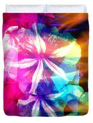 Fancy Pansy Candy Duvet Cover