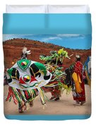 Fancy Shawl Dancer At Star Feather Pow-wow Duvet Cover