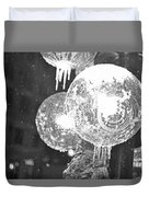Faneuil Hall Lollypop Light Icicles Boston Ma Black And White Duvet Cover