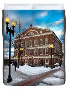 Faneuil Hall Winter Duvet Cover