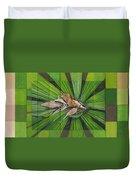 Fantail Palm Plateau Duvet Cover