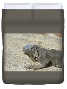 Fantastic Gray Iguana With Spines Along His Back Duvet Cover