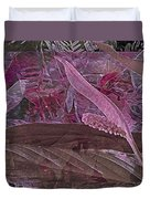 Fantasy African Violets And Peace Lily Pink, Red And Pink Duvet Cover