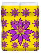Fantasy Big Flowers In The Happy Jungle Of Love Duvet Cover
