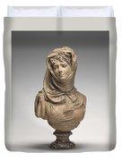 Fantasy Bust Of A Veiled Woman (marguerite Bellanger?) Duvet Cover