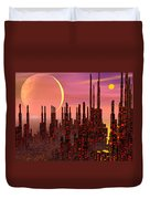 Fantasy City - 3d Render Duvet Cover