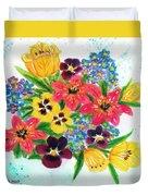 Fantasy Flowers #233 Duvet Cover