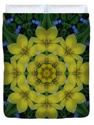 Fantasy Plumeria Decorative Real And Mandala Duvet Cover