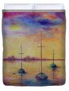 Fantasy Sailboats  Duvet Cover