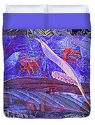 Fantasy With African Violets And Peace Lily 46 Duvet Cover