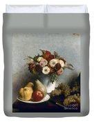 Fantin-latour: Fruits, 1865 Duvet Cover