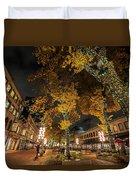 Fanueil Hall Boston Ma Autumn Foliage Duvet Cover