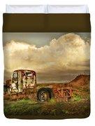 Far Rusted Truck Duvet Cover