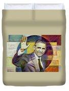 Farewell Obama Duvet Cover