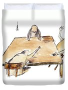 Farewell Party Duvet Cover