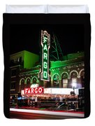 Fargo Nd Theatre At Night Picture Duvet Cover