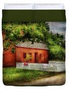 Farm - Barn - A Small Farm House  Duvet Cover