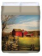 Farm - Barn - I Bought The Farm Duvet Cover