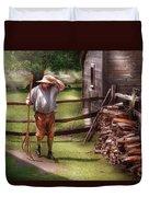 Farm - Farmer - Chores Duvet Cover