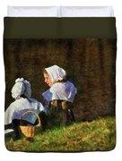 Farm - Farmer - The Young Maidens Duvet Cover