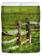 Farm - Fence - The Old Fence Post  Duvet Cover
