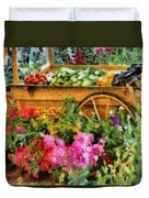 Farm - Food - At The Farmers Market Duvet Cover