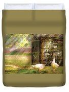Farm - Geese -  Birds Of A Feather Duvet Cover