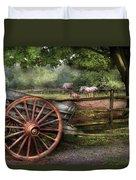 Farm - Horse - Grey Mare Duvet Cover