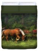 Farm - Horse - In The Meadow Duvet Cover