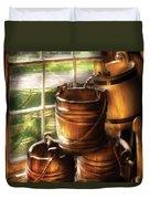 Farm - Pail - A Pile Of Pails Duvet Cover