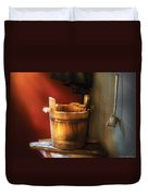 Farm - Pail - Water Pail And Ladel Duvet Cover