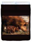 Farm - Pig - Family Bonds Duvet Cover