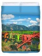 Farm  Art Tractors Duvet Cover