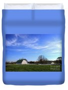 Farm At Sunset Duvet Cover