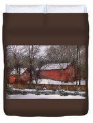 Farm - Barn - Winter In The Country  Duvet Cover
