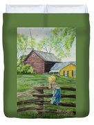 Farm Boy Duvet Cover