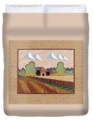 Farm By Ripon-marquetry Duvet Cover