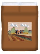 Farm By Ripon -marquetry-image Duvet Cover