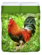 Farm - Chicken - The Rooster Duvet Cover