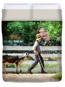 Farm - Cow -the Farmer And The Dell  Duvet Cover